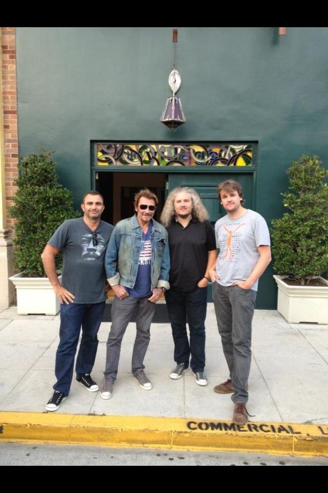 Johnny hallyday à LA enregistrement du nouvel album
