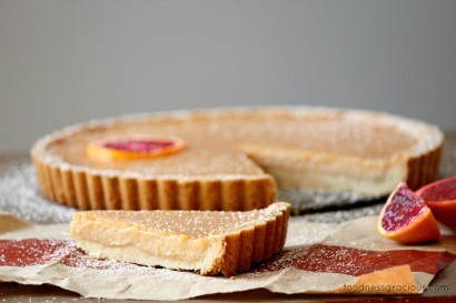 Blood Orange Tart with a Rosemary Butter Crust | Tasty Kitchen: A ...