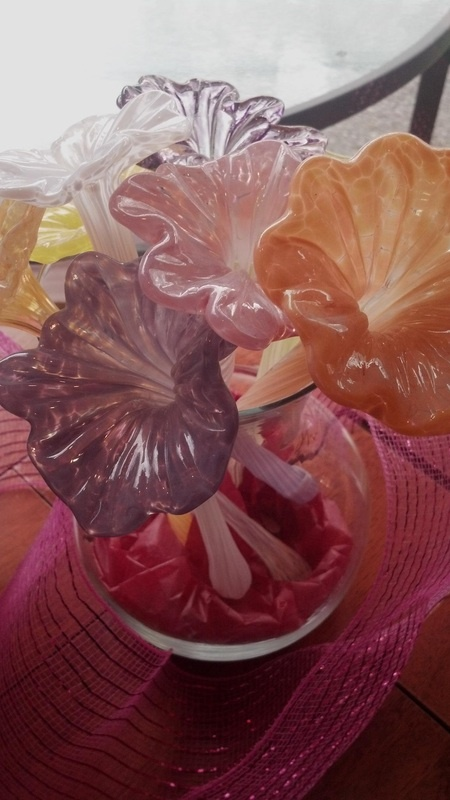 Glass flowers made local marketplace pinterest for Flowers made of glass