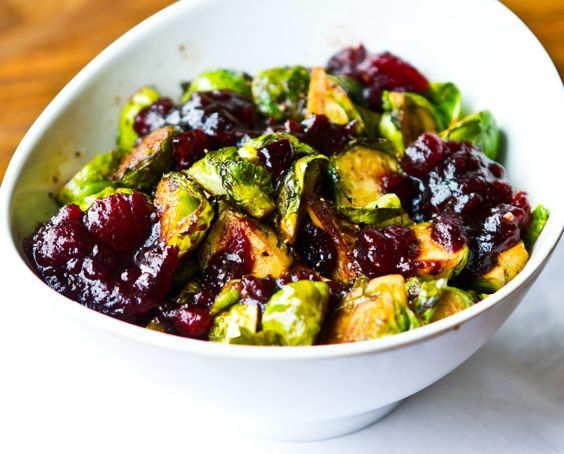 Cranberry Balsamic Brussel Sprouts. Holiday-approved. Paired this last ...