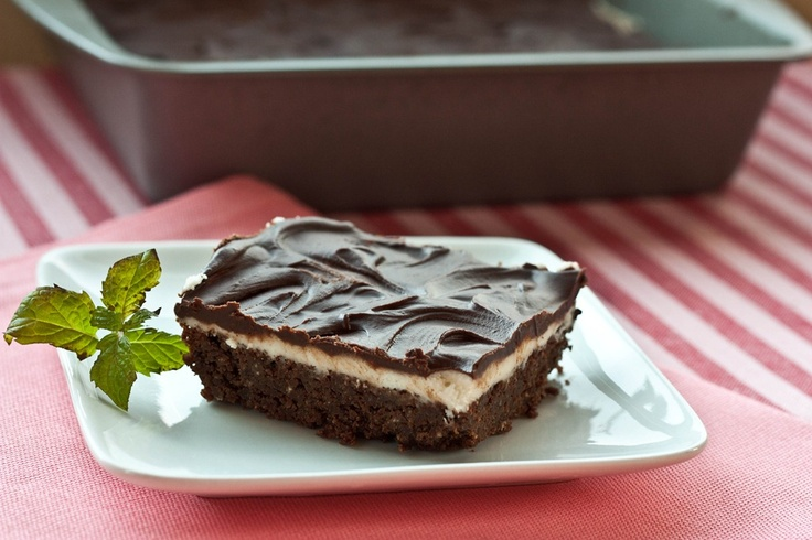Thin mint brownies! #vegan I think I know what we will be having for ...