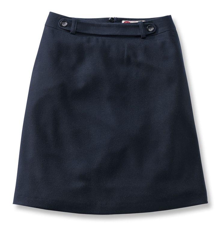 navy a line wool skirt modern boho