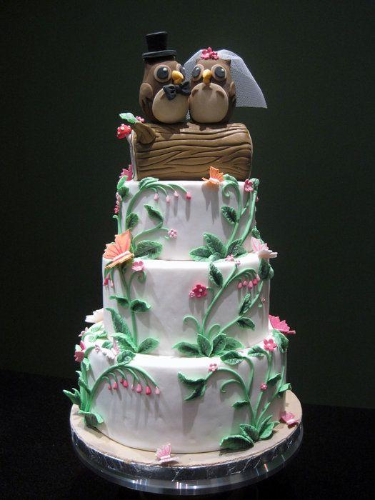 Cute Owl Wedding Cake Eat Cake Pinterest