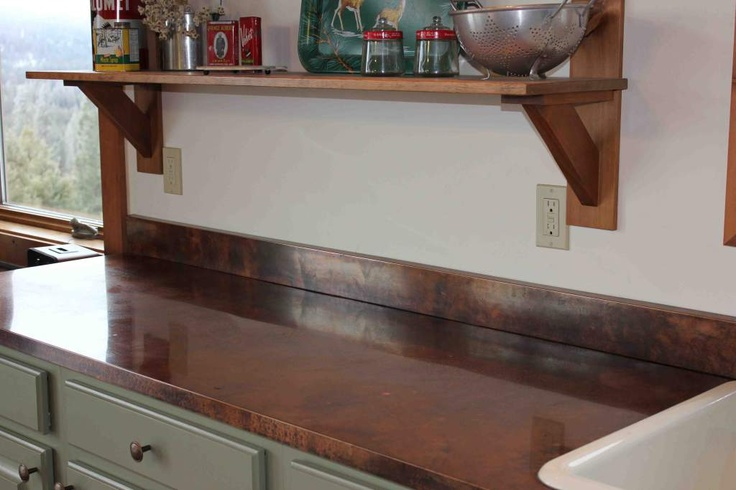 Copper kitchen countertop  Kitchen Ideas  Pinterest