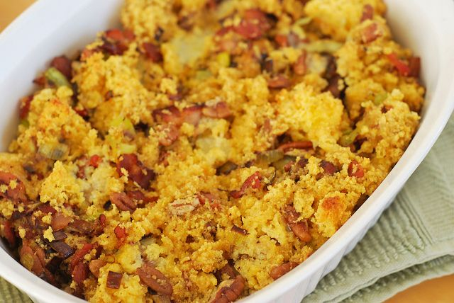 Cornbread, Bacon, Leek, and Pecan Stuffing | Food: Holiday | Pinterest