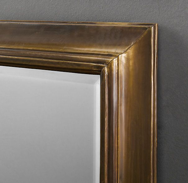 English aged brass mirror 26x48 or 36x48 for Floor mirror italian baroque rococo style in lacquer finish