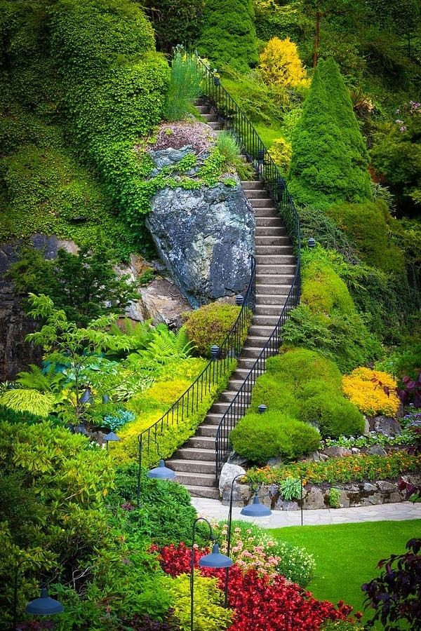Butchart Gardens Vancouver Canada Paths Pinterest