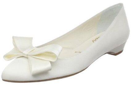 White Something Bleu Scoop Bridal Shoes
