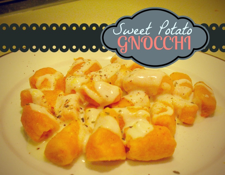 the Crafty Woman: Sweet Potato Gnocchi and Gouda Cheese Sauce