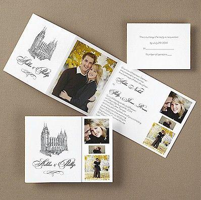 collage lds wedding invitation justin breanne wedding pinterest