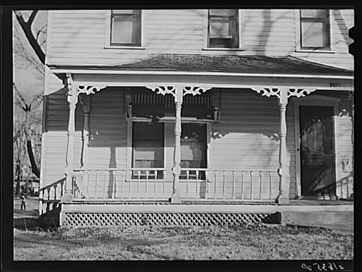 Front porch. Chanute, Kansas 1940