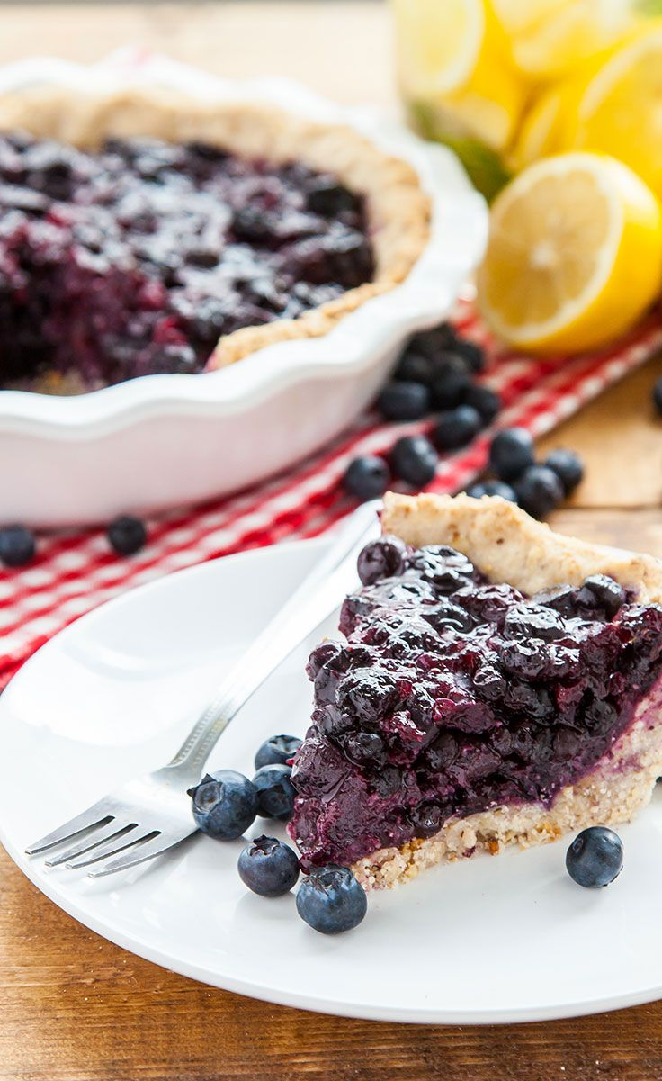 Vegan Gluten-Free Blueberry Pie