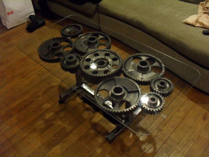 Steampunk Gear Coffee Table Pinterest