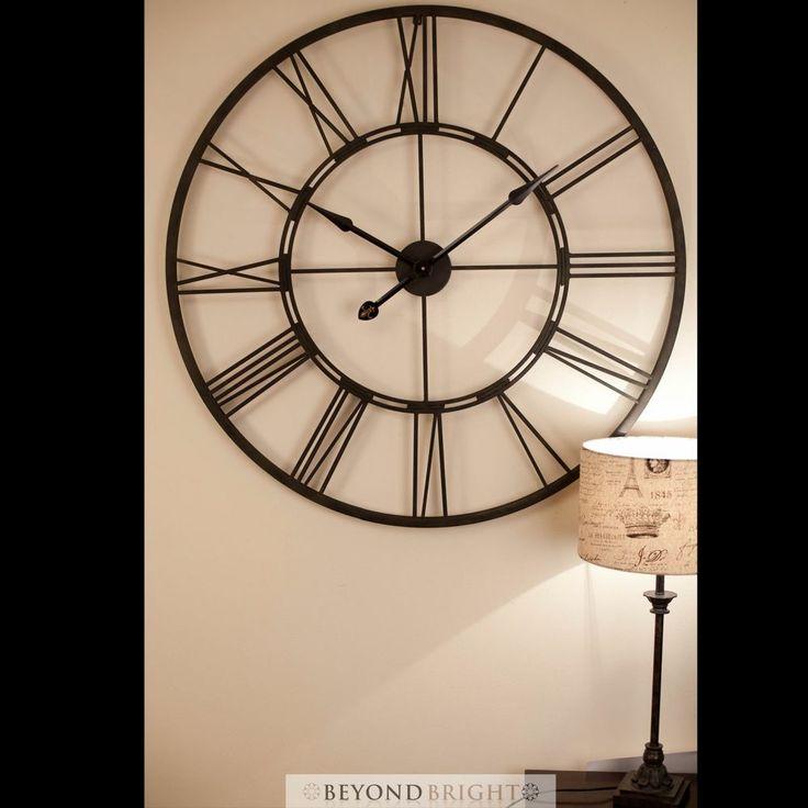 large 101cm bertha metal wrought iron wall clock vintage