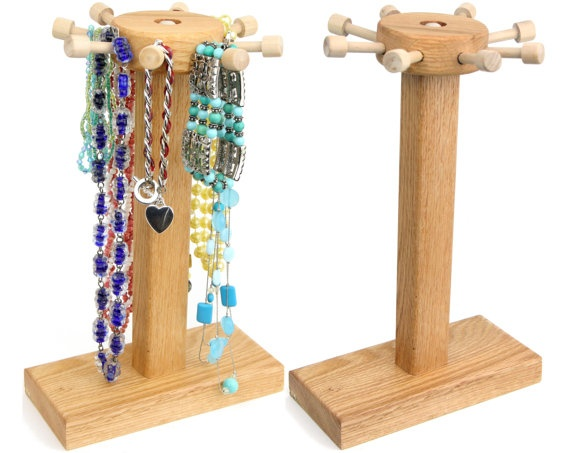 Bracelet Holder Small Necklace Holder  by TomsEarringHolders, $17.99