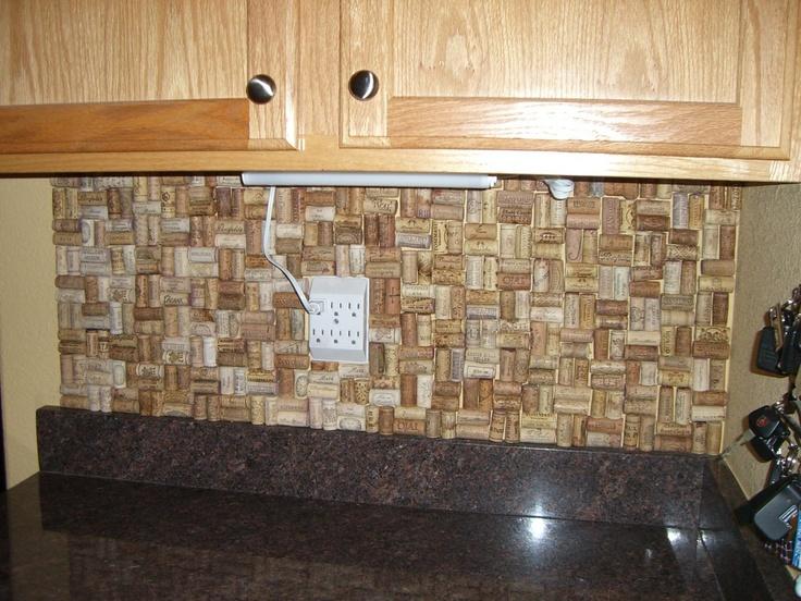 cork backsplash for the home pinterest