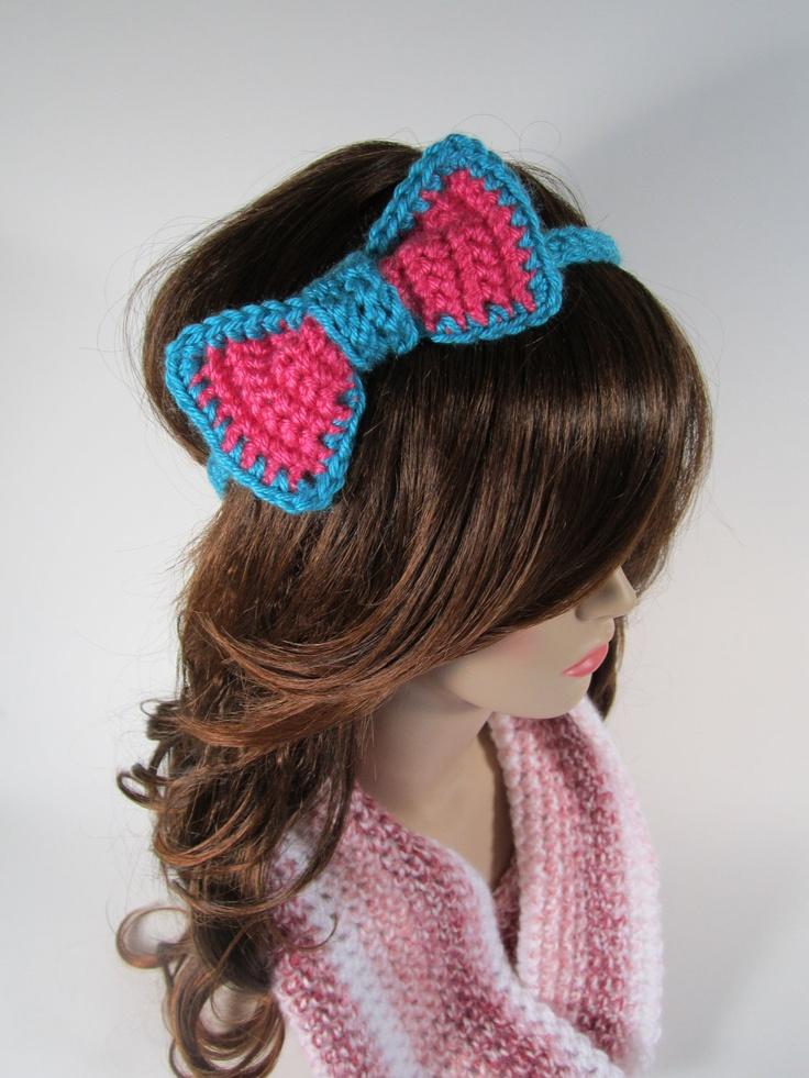 Crochet Bow Headband Crochet Pinterest