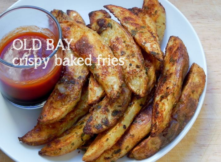 Crispy oven-baked crispy baked fries | side dishes | Pinterest