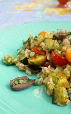 For Love of the Table: Mediterranean Eggplant & Barley Salad | Use ...