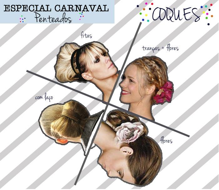 Veja sugestões de penteados para o carnaval.