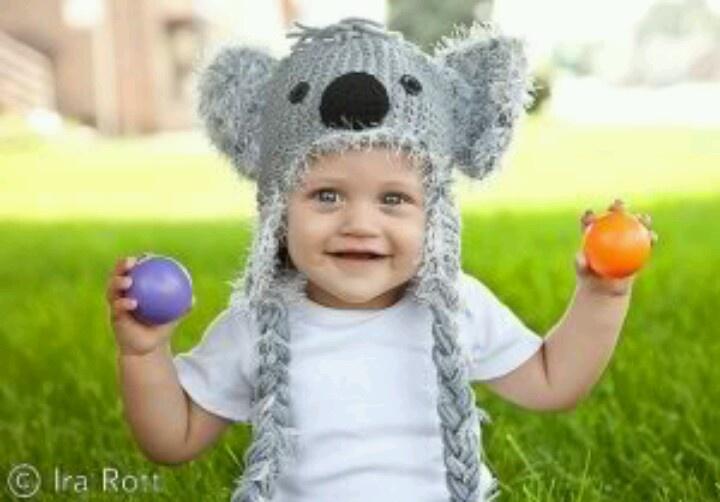 Koala ? crochet animal hats Pinterest