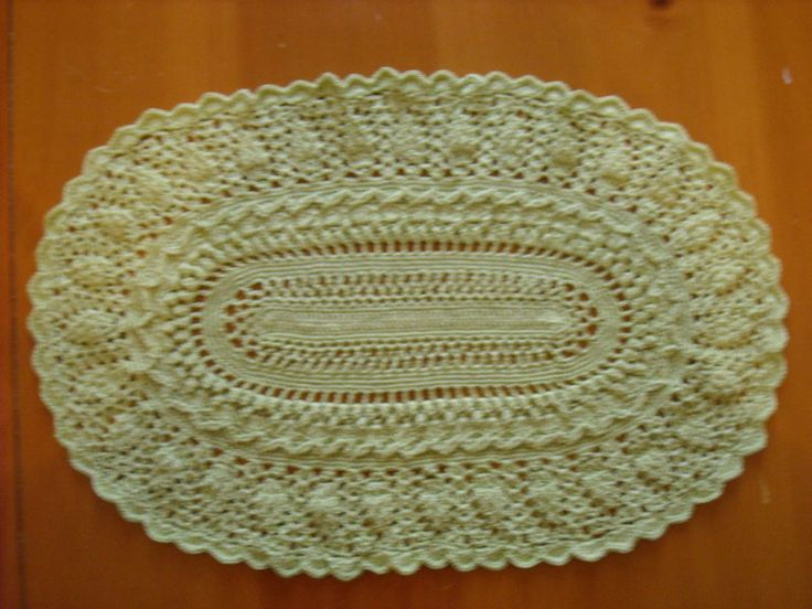 Crochet Oval : Oval Crochet Doily 18 by Bonnie Pratte Knit & Crochet Pinterest
