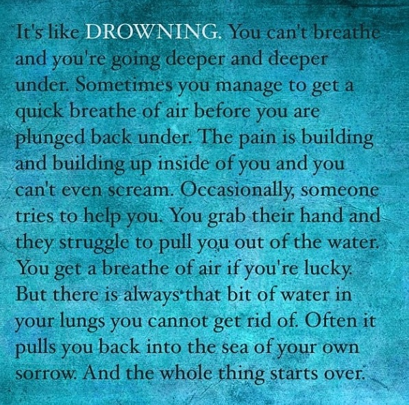 Image of: Sadness Quotes About Drowning Quotesgram Saryaninfo Drowning Quotes