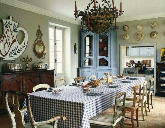 Country Dining Room French Chateau
