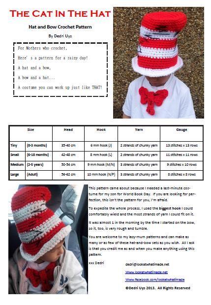 DIY Tutorial: Halloween / Cat in the Hat Crochet Pattern