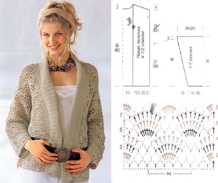 Crochet sweater with diagram #1 chompas Pinterest