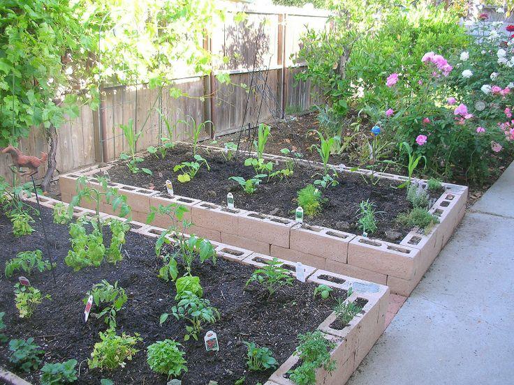 cinder block raised garden beds Outdoor Living Energy