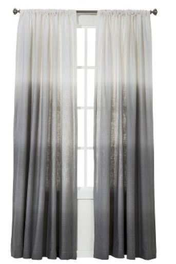 2 threshold for target gray ombre stripe window curtain
