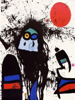 "Joan Miró - ""Woman Dripping in the Sun"""