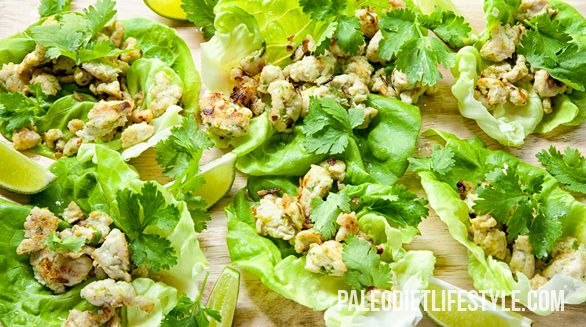 Thai Larb - a wonderful spicy chicken salad.
