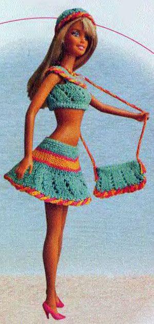 Вяжем для кукол барби своими руками