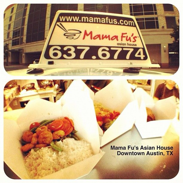 Wow. Looks like a lot of #office Funatics in #Downtown #Austin, #Texas are staying in for #lunch. Mama Fu's #delivery to the rescue! ;)