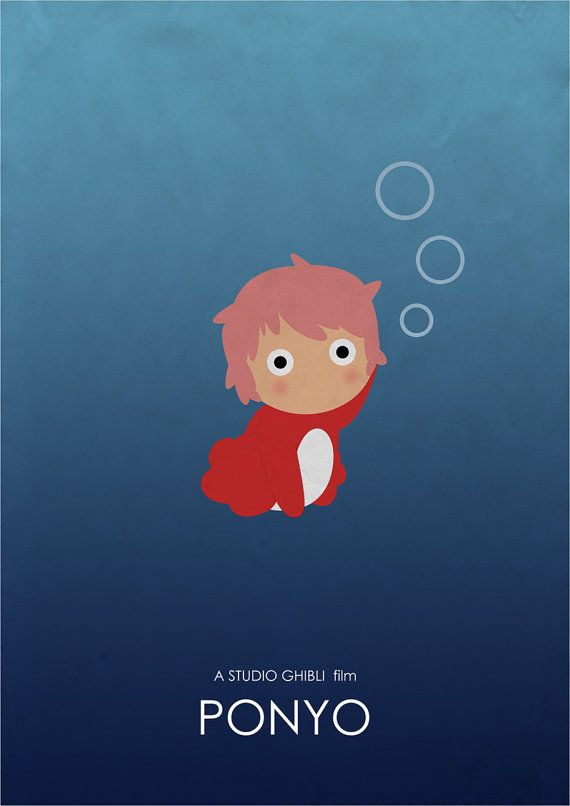 Ponyo Studio Ghibli Alternative Movie Poster