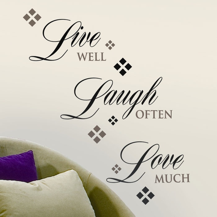 Live love laugh wall decal art pinterest for Live laugh love wall art