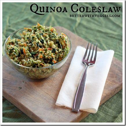 Quinoa Coleslaw @Heather Creswell Blackmon (Better With Veggies) # ...