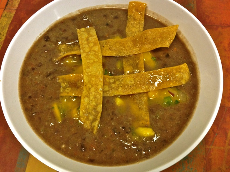 Chipotle Black Bean Soup -- Chipotle peppers turn the lowly black bean ...
