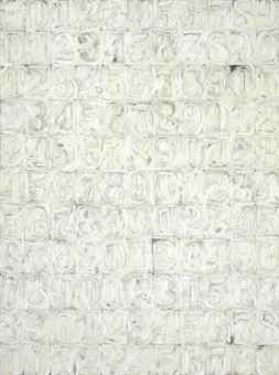 Jasper Johns s  quot White Numbers quot Jasper Johns Numbers White