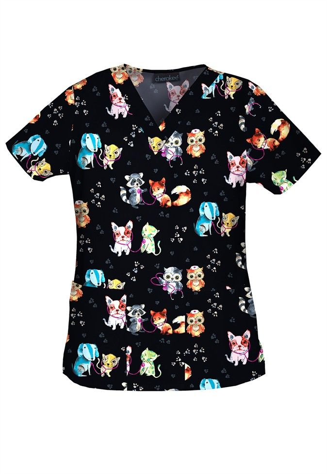 Womens Tops With Dogs Or Cats Printed On Them