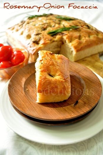 Rosemary onion focaccia | Dreamy Bakery | Pinterest