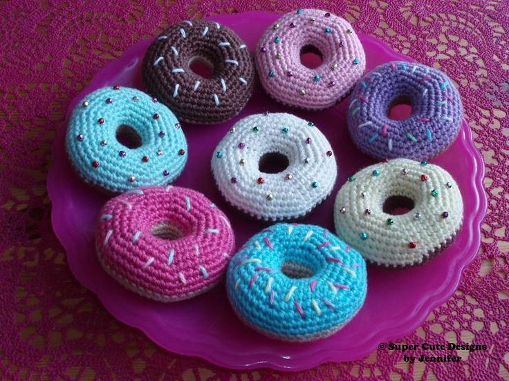 Mini Donuts Amigurumi : Plate of Amigurumi Donuts 2 Pinterest