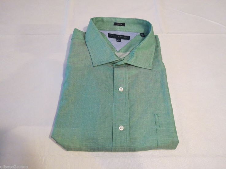 Pin by michelle green on ebay pinterest Emerald green mens dress shirt