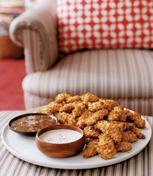 We've cut the fat from these irresistibly crispy chicken fingers by ...