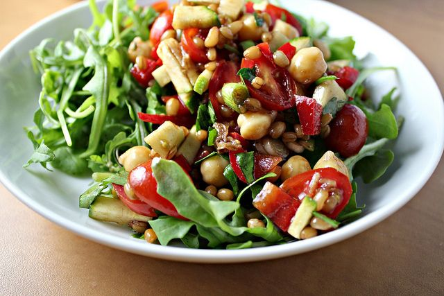 Back on Track Wheat Berries and Chickpea Salad...Eat.Live.Be. for a B ...