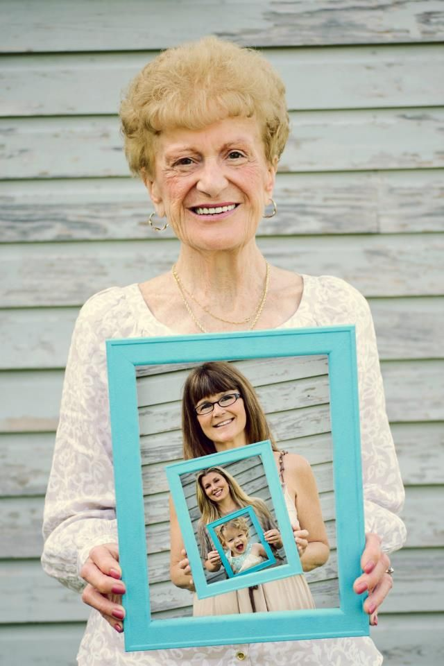 Sweet idea for 4 generations photo