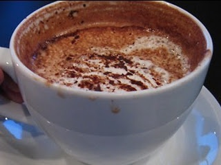 homemade hot chocolate- drinking this right now. yum!