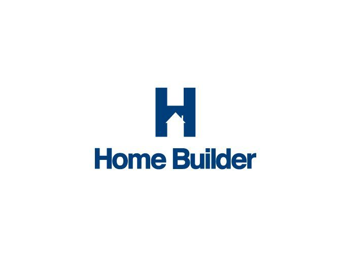 Home builder logo house in h brainstorming pinterest for Housing construction companies